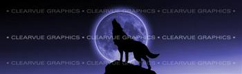 Howling at the Moon Wildlife Rear Window Graphic