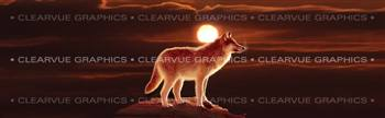 Sunset Wolf Wildlife Rear Window Graphic