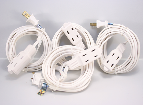 Extension Cord White 4 Pack