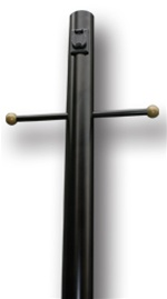 "84"" Black Aluminum Lamp Post with Outlet"