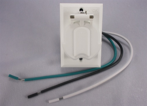 220 Volt Outlet >> Add-On Lamp Post Outlet, White