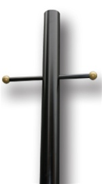 "Black Lamp Post 84"" Long"