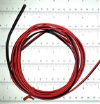 Black/Red Lead Wire 22g/2c by the Foot