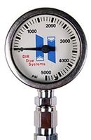Submersible pressure gauge for Stage, 61.030.005  *Buy at DIVESEEKERS.com 888-SCUBA-47