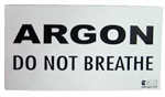 ARGON: DO NOT BREATHE warning decal 66.000.000  *Buy at DIVESEEKERS.com 888-SCUBA-47
