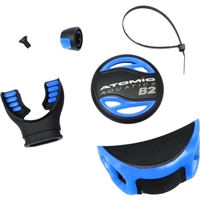COLOR KIT - B2 (COVER, ADJ. KNOB & EXHAUST DEFLECTOR) BLUE, 02-0302-3P, Buy Atomic Aquatics at DIVESEEKERS.com 888-SCUBA-47
