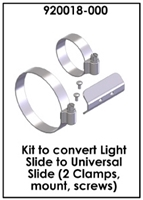 Kit to convert Light Slide to Universal Slide (2 Clamps, mount, screws) , 920018-000 , *Buy Ocean Technology Systems OTS at Diveseekers.com 888-SCUBA-47