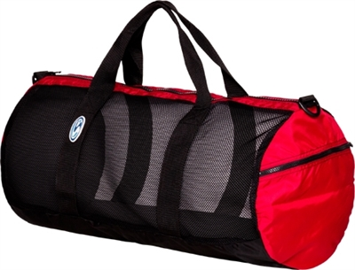"Stahlsac 26"" Mesh Duffel Blk/Red *Buy at DIVESEEKERS.com 888-SCUBA-47"