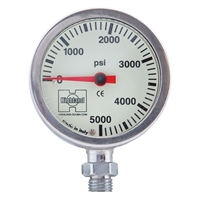 Highland Brass and Glass Pressure Gauge *Buy Highland at DIVESEEKERS.COM 888-SCUBA-47