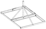 "60"" H Non-Penetrating Roof Mount"