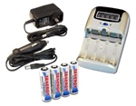 4 in 1 Battery Charger