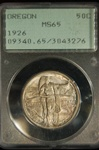 PCGS Certified 1926 Half Dollar Oregon Trail Commemorative MS-65