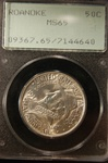 PCGS Certified 1937 Roanoke Commemorative Half MS-65
