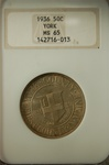 NGC Certified 1936 York County Commemorative Half MS-65