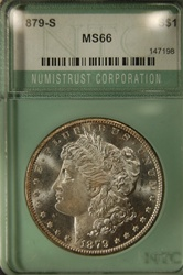 NTC Certified 1879 S Morgan Dollar MS-66
