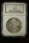 NGC Certified 1882 S Morgan Dollar MS-66