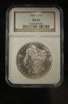 NGC Certified 1882 S Morgan Dollars MS-66