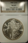 NGC Certified 1882 S Morgan Dollar MS-67