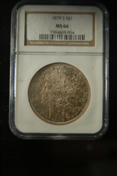 NGC Certified 1879 S Morgan MS-66 Toned