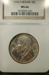 NGC Certified 1936 S Half Dollar Daniel Boone Commemorative MS-66