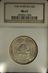 NGC Certified 1936 Half Dollar Norfolk Commemorative MS-67