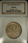 NGC Certified 1924 Half Dollar Huguenot Commemorative MS-66