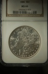 NGC Certified 1886 Morgan Dollar MS-66