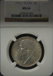 NGC Certified 1935 S Boone Commemorative Half Dollar MS-64  P-D-S Set