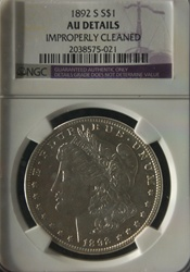 NGC Certified 1892 S Morgan Dollar AU Details