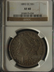 NGC Certified 1892 CC Morgan Dollar XF-40