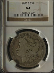 NGC Certified 1895 S Morgan Dollar G-4