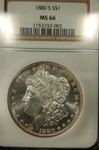 NGC Certified 1880 S Morgan dollar MS-66