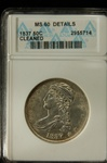 ANACS Certified 1837 Capped Bust Half Dollar MS-60 Details