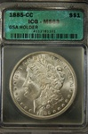ICG Certified 1885 CC Morgan Dollar MS-63