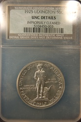 NGC Certified 1925 Half Dollar Lexington-Concord Commemorative UNC Details