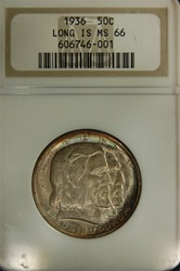 NGC Certified 1936 Long Island Commemorative Half MS-66