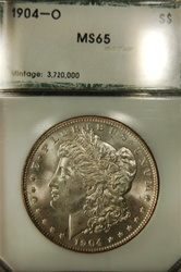 PCI Certified 1904 O Morgan Dollar MS-65