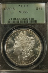 PCGS Certified 1880 S Morgan Dollar MS-65