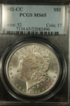PCGS Certified 1882 CC Morgan Dollar MS-65