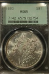 PCGS Certified 1883 Morgan Dollar MS-65