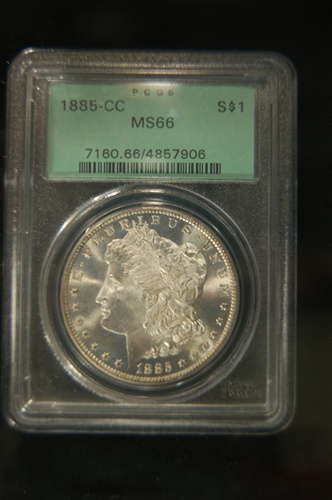 PCGS Certified 1885 CC Morgan MS-66