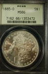PCGS Certified 1885 O Morgan Dollar MS-66
