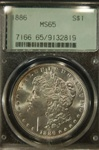 PCGS Certified 1886 Morgan Dollar MS-65