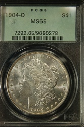 PCGS Certified 1904 O Morgan Dollar MS-65