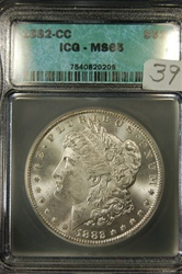 ICG Certified 1882 CC Morgan Dollar MS-65
