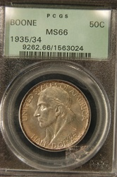 PCGS Certified 1935/34 Half Dollar Daniel Boone Commemorative MS-66