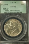 PCGS Certified 1935/34 Boone Commemorative Half MS-66