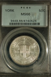 PCGS Certified 1936 Half Dollar York County Commemorative MS-66