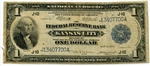 $1 National Currency Note Kansas City MO (Elliot Burke) 1918 F