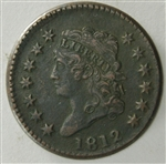 1812 Large Cent XF